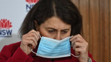 """NSW Premier Gladys Berejiklian says she is """"disgusted"""" by Sydney's anti-lockdown protesters."""