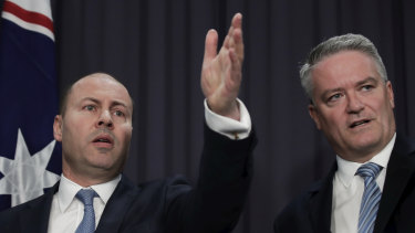 Treasurer Josh Frydenberg and Minister for Finance Mathias Cormann will oversee the largest budget deficit in history on Tuesday, with more red ink to follow over coming years.