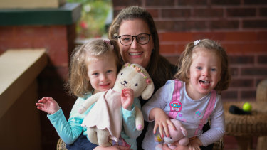 Kate Marshall, of the Health and Community Services Union initiated the push for reproductive leave after needing fertility treatment to have her daughters, Ava and Lucy.