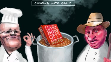 Cooking with gas - Scott Morrison and Barnaby Joyce.