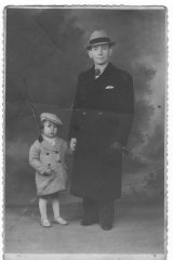 Paul Grinwald and his father in Paris in 1935.