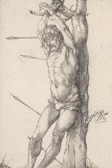 Albrecht Dürer's engraving St Sebastian at the tree(1501)