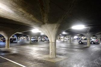 Melbourne University underground car park.