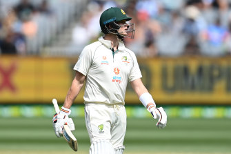 Steve Smith has struggled with the bat so far against India.