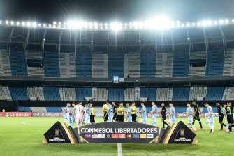 A recent match behind closed doors for Copa Libertadores. This year's Copa America has been pushed back to 2021.