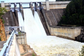 Warragamba Dam last spilled at significant volumes in July 2016.
