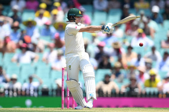 Steve Smith in action on day one of the third Test match against New Zealand at the SCG.
