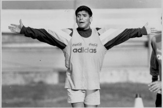 Diego Maradona caught an NSL match at Leichhardt Oval during his brief stay in Sydney.
