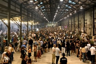 The popular night markets at Carriageworks last year.