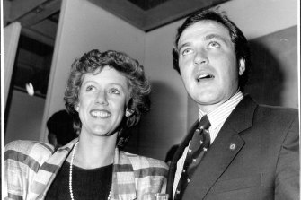 Yabsley as minister for Vaucluse in 1987, with his wife Susie.