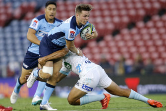 Young playmaker Will Harrison has impressed the Waratahs' hierarchy despite their 0-2 start to the Super Rugby campaign.