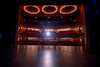 An empty Her Majesty's Theatre in Melbourne.  The performing arts are among the many industries that may be permanently damaged by lockdowns.