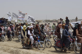 The Taliban have taken control of most major Afghan border crossings.