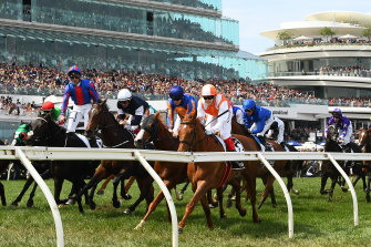Vow and Declare takes victory in last year's Melbourne Cup.