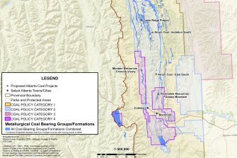 There are several metallurgical coal projects from exploration to mines proposed in Alberta.