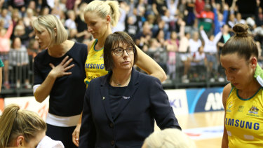Diamonds coach Lisa Alexander (centre) has questioned the World Cup format.