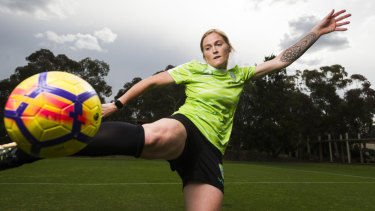 Canberra United recruit Meaghan McElligott.