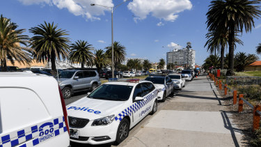 Police launched Operation Sandsafe at St Kilda on Thursday.