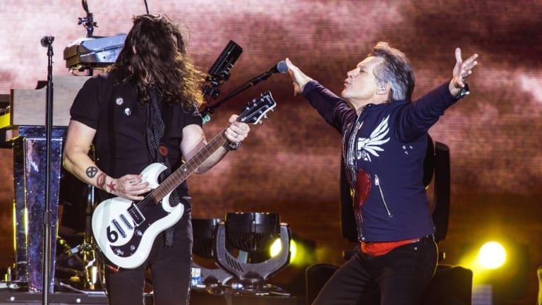 Jon Bon Jovi at the MCG on Saturday night.