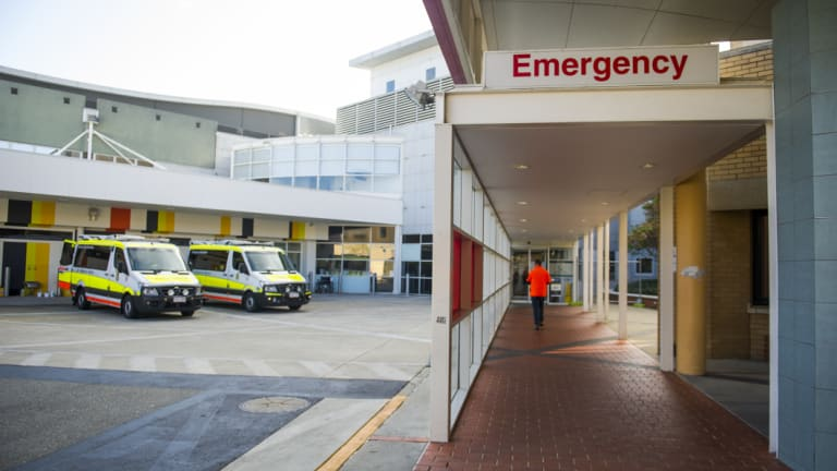 The Canberra Hospital emergency department.