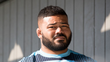 Play on: Tolu Latu has been training with the Waratahs despite being stood down from playing commitments after being caught drink driving.