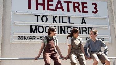 Jamie Boyd (Jem), Jade Breen (Scout) and Jake Keen (Dill) star in To Kill a Mockingbird at Theatre 3.