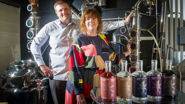 Brother and sister owners of Underground Spirits Distillery, Toby Angstmann and Claudia Roughley.