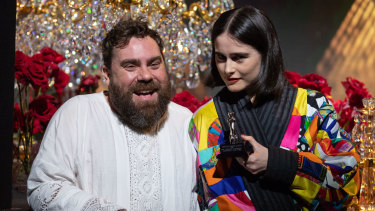 Romance Was Born designers Luke Sales and Anna Plunkett, winners of the Best Australian Womenswear award.