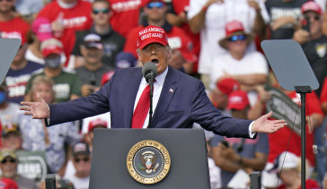 President Trump at a campaign rally in Florida.