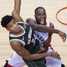 Raptors square series against Bucks
