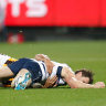 'That's AFL footy': Dangerfield had no problem with Burgoyne tackle