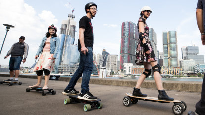 'Just like driving a car but it's a skateboard': rebels roll the dice across Sydney