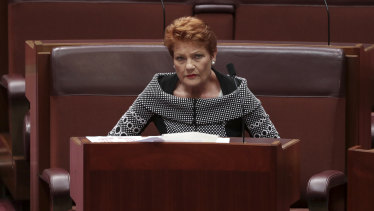 Senator Pauline Hanson backflipped on amendments to the JobMaker scheme to help the government pass the legislation.