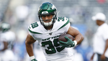 Low profile: Valentine Holmes had to play a diminished role at the New York Jets.