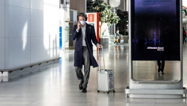 Airline passengers are increasingly expected to wear face masks to travel.