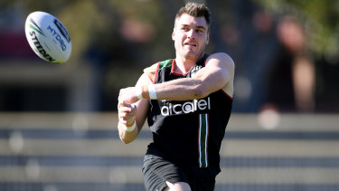 Switching sides: Former Rabbitoh Angus Crichton has joined the Roosters.