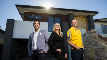 Former big brother contestant Jason Roses, raize the roof co-founder Danielle Dal Cortivo, and store manager of Ikea Canberra Sean Howell.