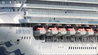 The cruise ship Ruby Princess is currently docked at Port Kembla.