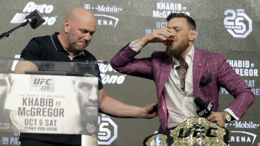 Promoter: McGregor was up to his usual tricks in front of the cameras.