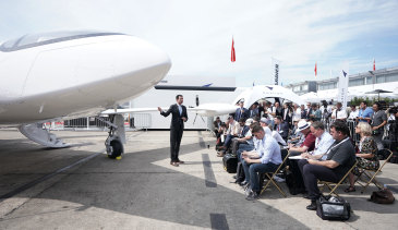 Eviation CEO Omer Bar-Yohay unveiled the company's 'Alice' electric aircraft during the 53rd International Paris Air Show this week.