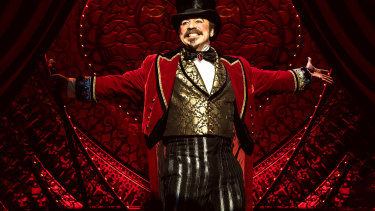 Danny Burstein as Harold Zidler in the Broadway production of Moulin Rouge! The Musical.