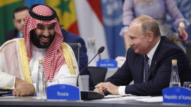Prices have been hit hard as Saudi Arabia's Crown Prince Mohammed bin Salman and Russian President Vladimir Putin continue their oil stoush.