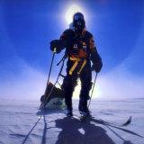 Jon Muir trekking across Antarctica.