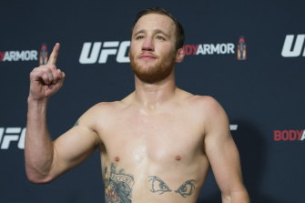 Stepping in: Justin Gaethje will headline the event at short notice.