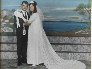 Manoli and Anna Vourvahakis after their 1971 wedding in Yarraville.
