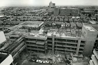 The hospital site photographed in 1966. Beyond the hospital, you can see the Eurimbla precinct.