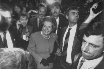 "Mrs Thatcher ""booed and jostled"" by protesters"