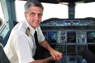 """There is much Richard de Crespigny is going to miss about being an airline pilot: """"I loved walking around the aircraft and talking to people."""""""