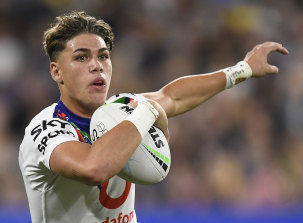 Reece Walsh was called into the Queensland Origin team after just seven NRL games.