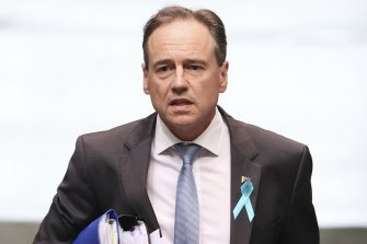 Greg Hunt in hospital as third Morrison government minister faces health battle